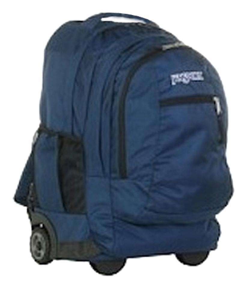 915b50bc5929 JanSport Driver 8 Laptop Carry On Luggage Wheeled School Navy Blue Nylon  Backpack