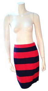 J.Crew Linen Red Mini Skirt Red, Navy Blue