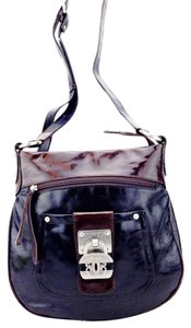 Sharif Padlock Patent Leather Cross Body Bag