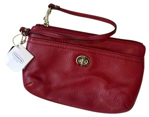 Coach Wristlet in Black Cherry
