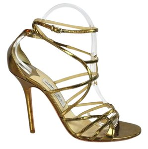 Jimmy Choo Cage Gold Sandals