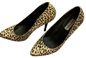 Steve Madden Haircalf Hair Pony Leopard Stilettos Pumps