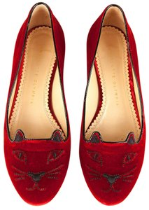 Charlotte Olympia Red Flats