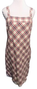 Tommy Hilfiger short dress Red, White and Blue Cotton Floral Plaid on Tradesy