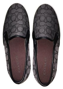 Coach Chrissy Logo Outline Career Fun Black/Gray Flats