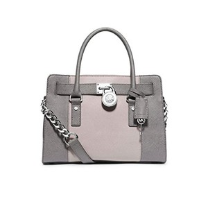 Michael Kors Hamilton Satchel in Gray