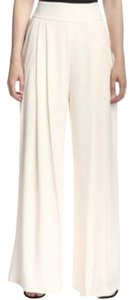 Gracia High Waist Wide Leg Pants White