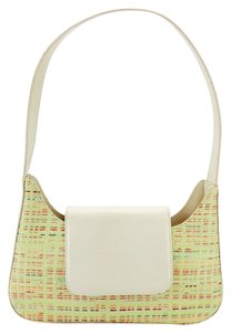 Lancel Multicolor Woven Patent Leather Weave Shoulder Bag