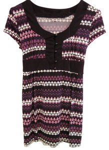 JTB Top Black,Purple,Pink & White