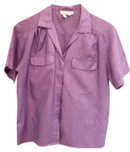 Laura And Jayne Button Down Shirt Purple