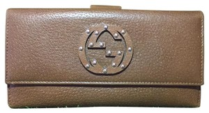 Gucci Brown Gucci GG Continental Long Bifold Wallet