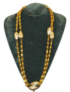 Other Byzantine Chain Separates Tear Drop Shape Pearls. 36
