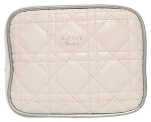 Dior Dior Quilted White And Blue Beauty Case