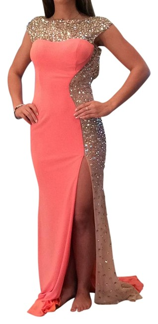 Item - Light Orange 88250 Long Formal Dress Size 0 (XS)