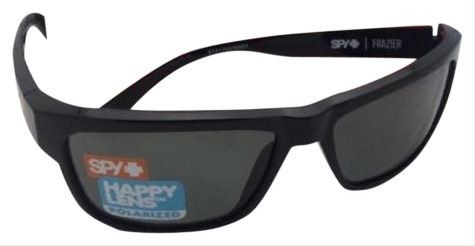 7b281cf866 Spy Polarized SPY OPTIC Sunglasses FRAZIER Shiny Black Frame w  Grey-Green  Image 0 ...