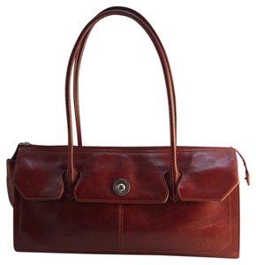 Pelle Studio Satchel in Burgundy Red