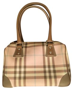 Burberry Canvas Satchel in Pink