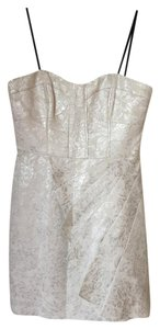 Laundry by Shelli Segal Metallic Textured Strapless Dress