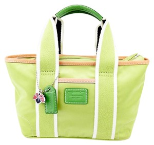 Coach Nylon Canvas Hamptons Weekend Tote in Green