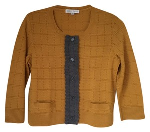 See by Chloé Panel Woven Wool Tea Length Cardigan