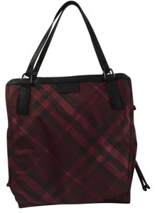 Burberry Tote in Bright Burgundy