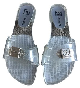 Chanel Lucite Clear Sandals