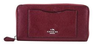 Coach * Coach Accordion Zip Wallet In Crossgrain Wallet