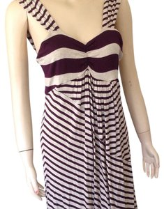 Ella Moss short dress Burgandy and beige on Tradesy