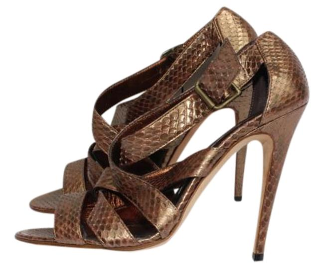 Item - Bronze Snake Sandals Size US 8 Narrow (Aa, N)