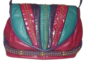 Park Avenue Vintage Multicolored Studded Cross Body Bag