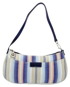 Longchamp Canvas Leather Shoulder Bag
