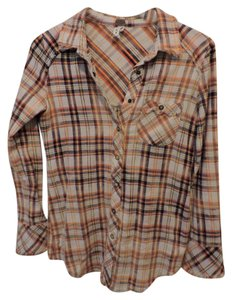 Free People Button Down Shirt Flannel