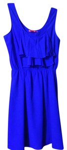 Ultra Pink short dress Cobalt Royal Crepe Ruffle Uk on Tradesy
