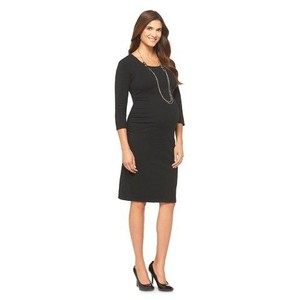 Liz Lange Maternity for Target Liz Lange Maternity for Target Black Tee-Shirt Dress