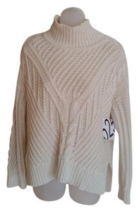 525 America Neiman Marcus Funnel Cable Sweater