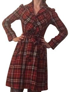 Other Retro Plaid 90s Trench Trench Coat