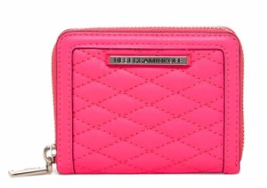 Rebecca Minkoff New Mini Ava Quilted Leather Zip Around Wallet, Pink, SU15ELVC02