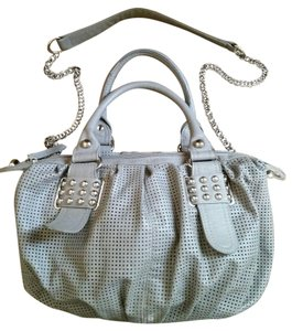 Olivia + Joy + Handbag Vinyl Studded Tote Shoulder Bag