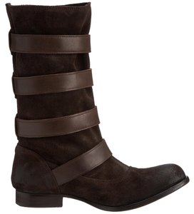 H by Hudson Distressed Suede Brown Boots