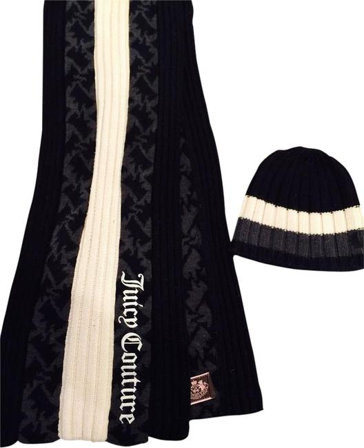 Item - Black Grey Off White And Hat Scarf/Wrap
