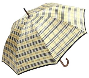 Burberry Brand New Authentic Burberry Beige Check Classic Walking Umbrella