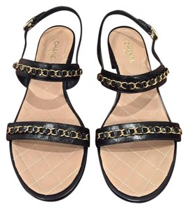 Chanel Chain Classic Gladiator Cc black Sandals