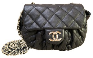 Chanel Chain Around Small Silver- Tone Cross Body Bag