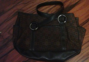 Liz Claiborne Leather Cloth Hobo Bag