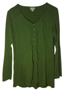J. Jill Button Formal Office Button Down Shirt Green