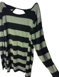 Forever 21 Cutout Stripe Open Sweater