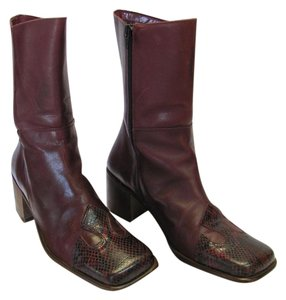 Geroge Size 38 (7.50 M Usa) Leather Dark Red Boots