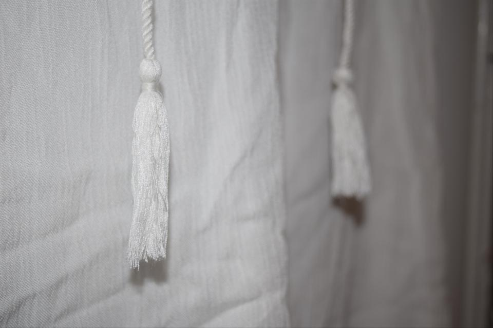 French Atmosphere short dress White   Blue Tunic Embroidered Tassels on  Tradesy Image 11. 123456789101112 261f4b2fe