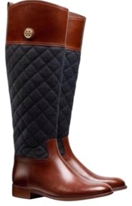 Tory Burch Brown and Blue Boots