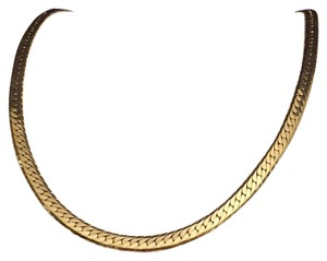 Trifari Trifari Gold Tone Shiny Herringbone Necklace Chain